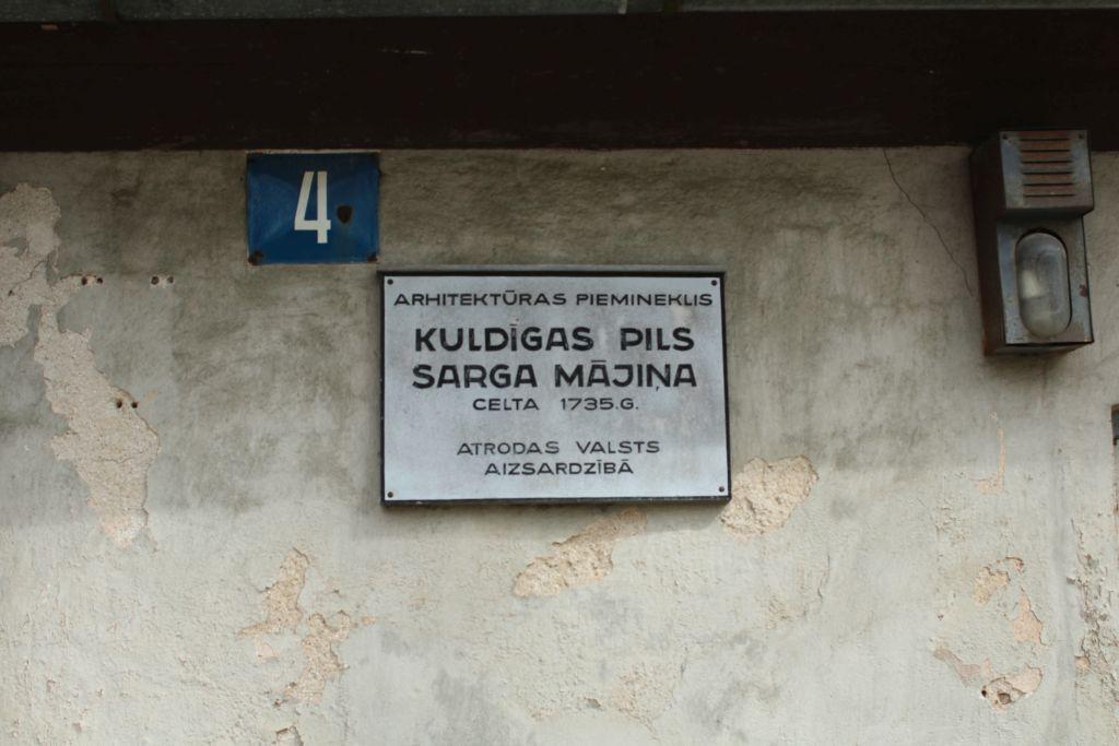 Palalce of Kuldīga guards house