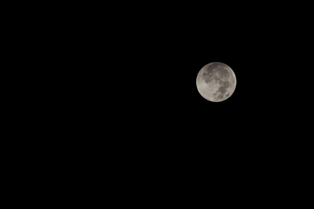 Super moon above Tbilisi, Georgia