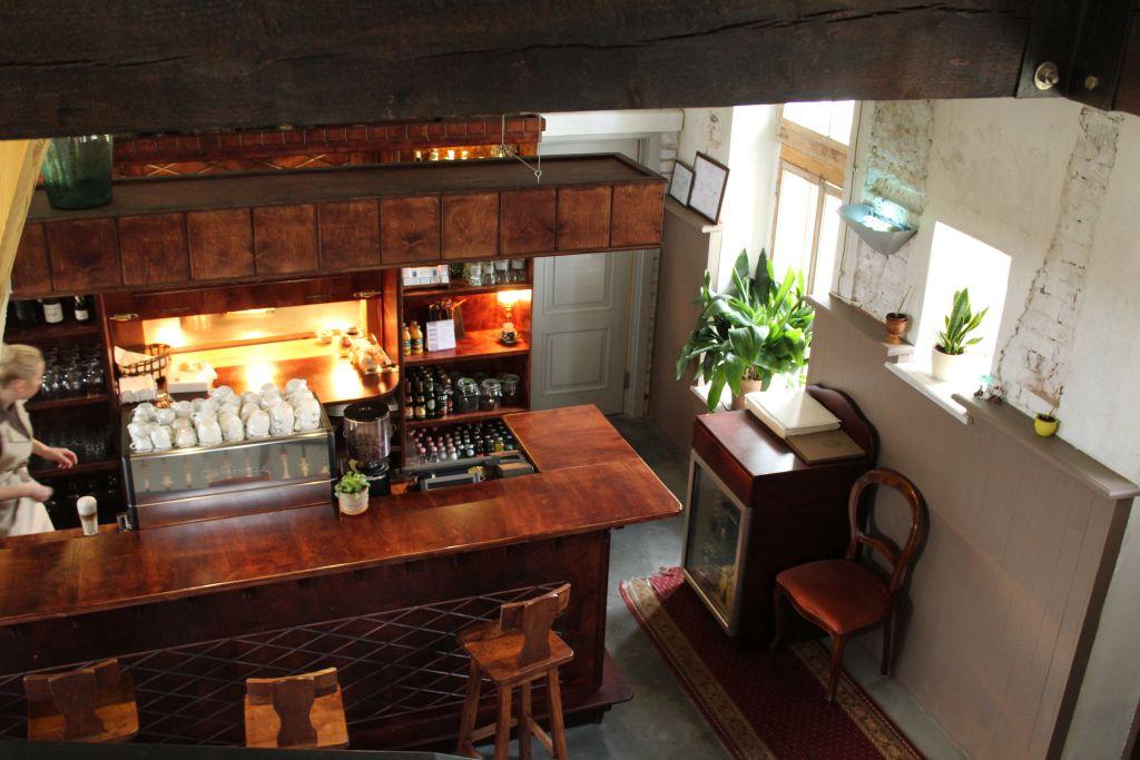 Bar counter at Bangert's restaurant