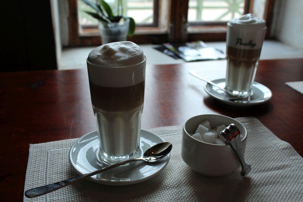 Coffee latte at Bangert's Restaurant