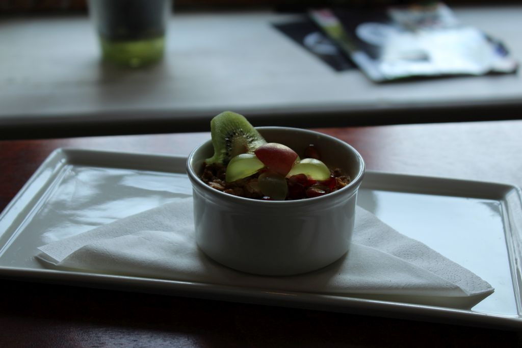 Creme Brulee served with berries