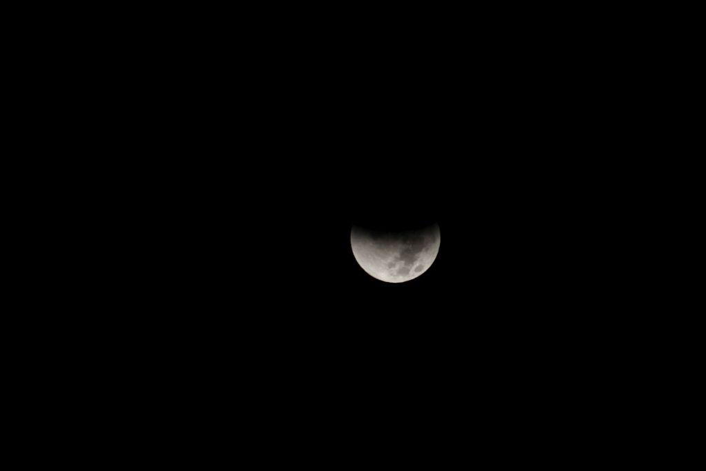 Lunar eclipse in Georgia