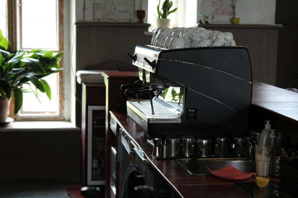 Coffee machine at Bangert's