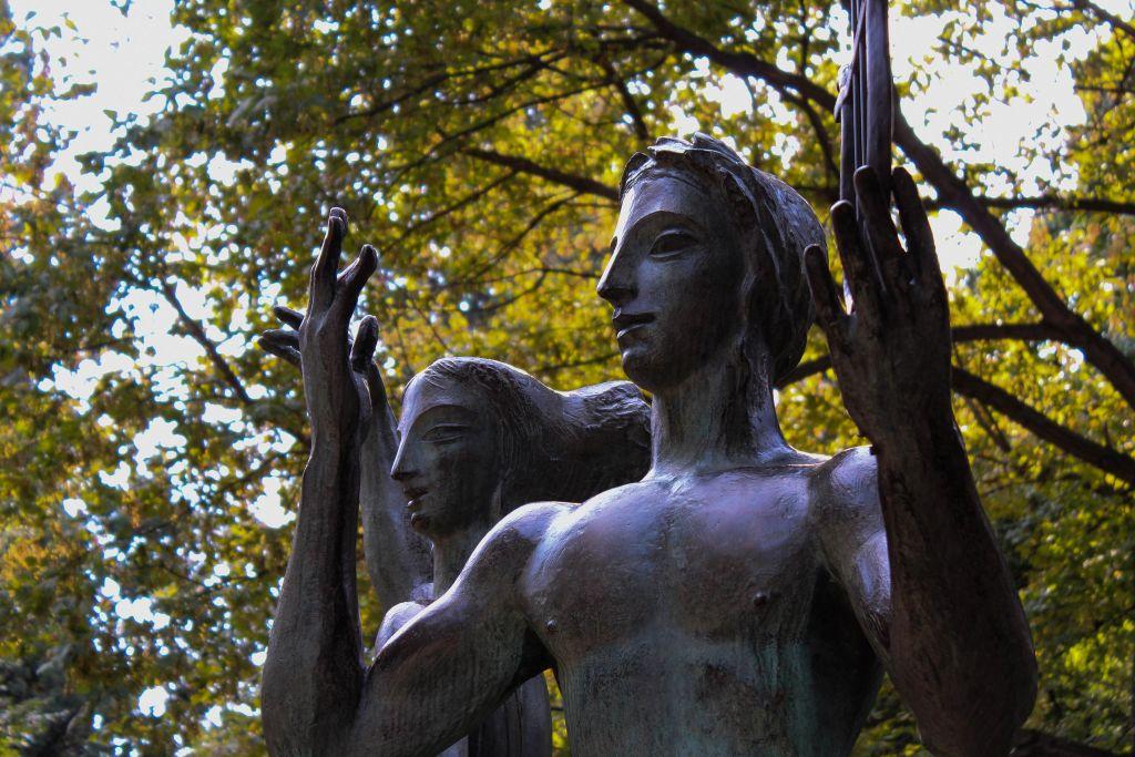 Photo of Sculpture in Tbilisi park after edit in Adobe Lightroom
