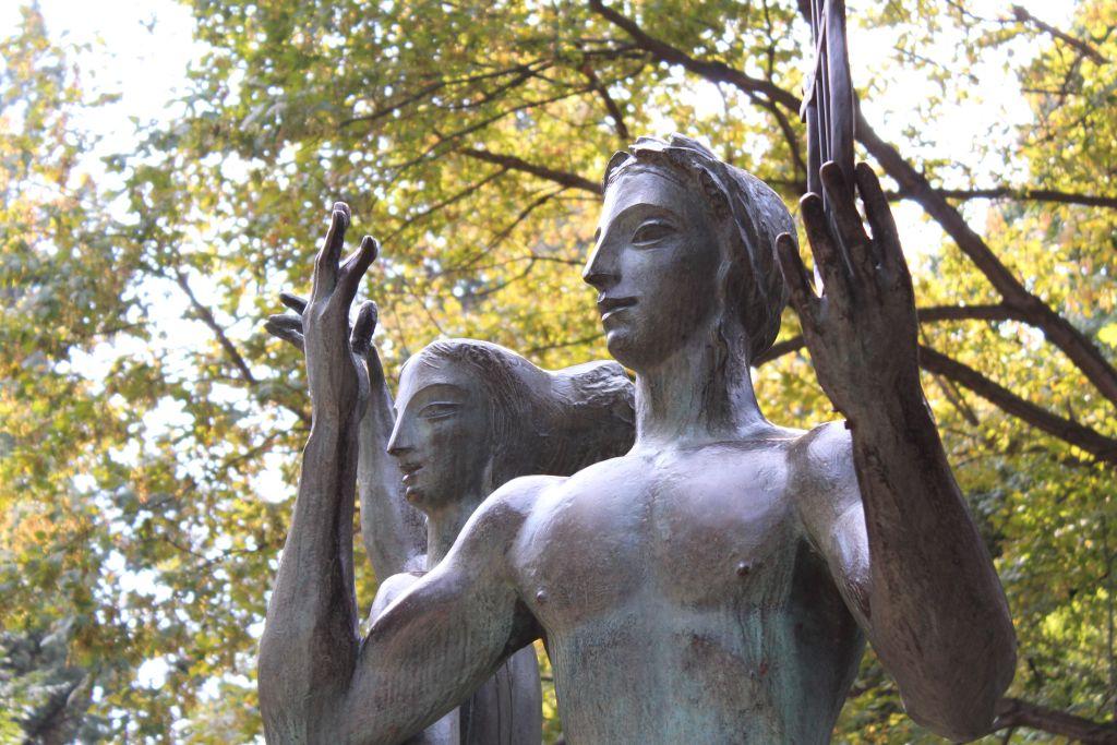 Sculpture in Tbilisi park