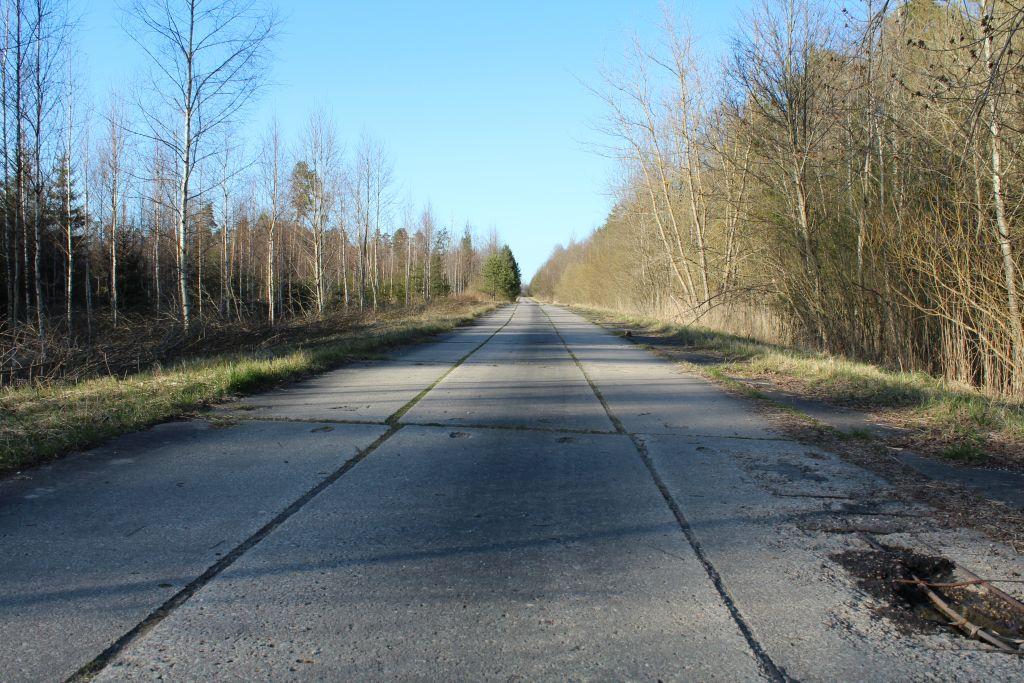 Concrete slab road heading to Skrunda - 1