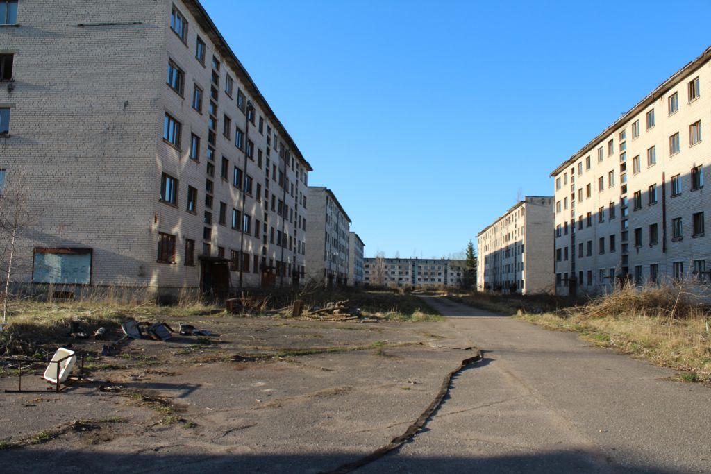 Abandoned block houses