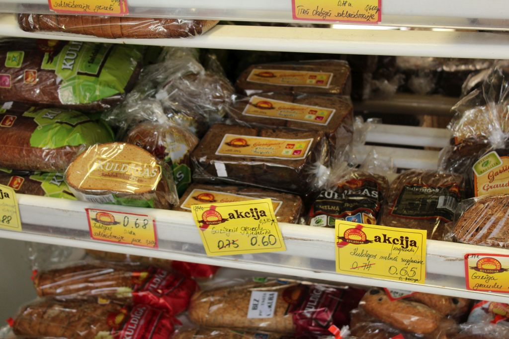 """Latvian bread for sale at """"Kukulītis"""" store"""