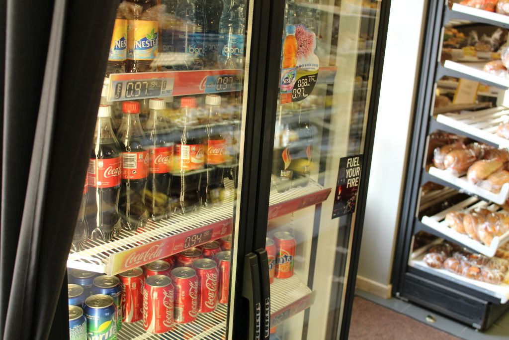 Soda and water for sale at Kukulitis store