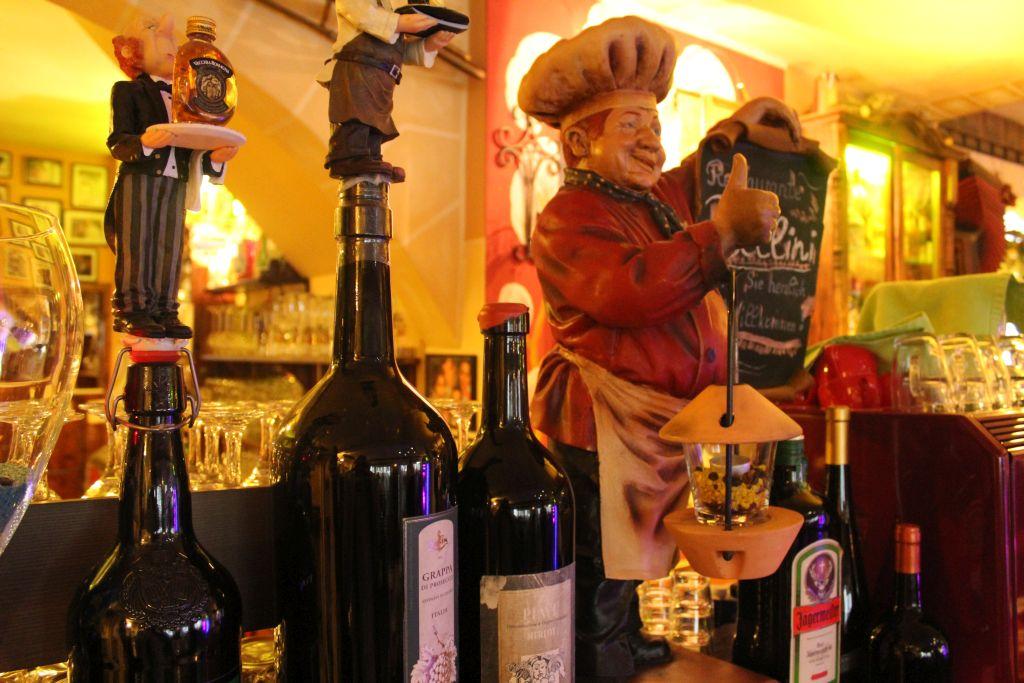 Large bottles at Restaurant Bellini