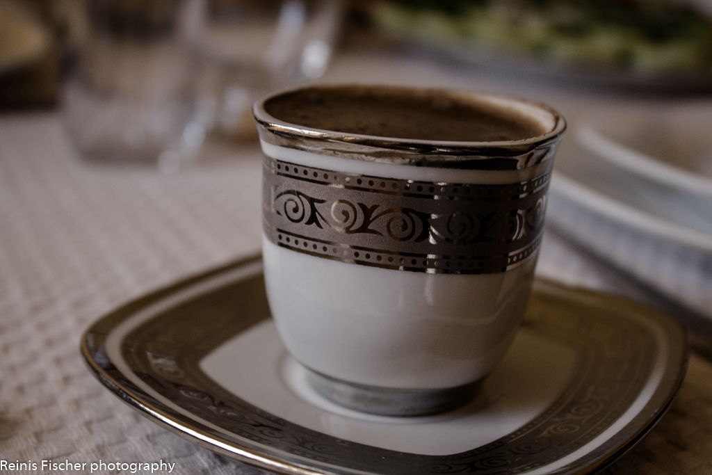 A cup of Turkish coffee at Dzveli Gelati