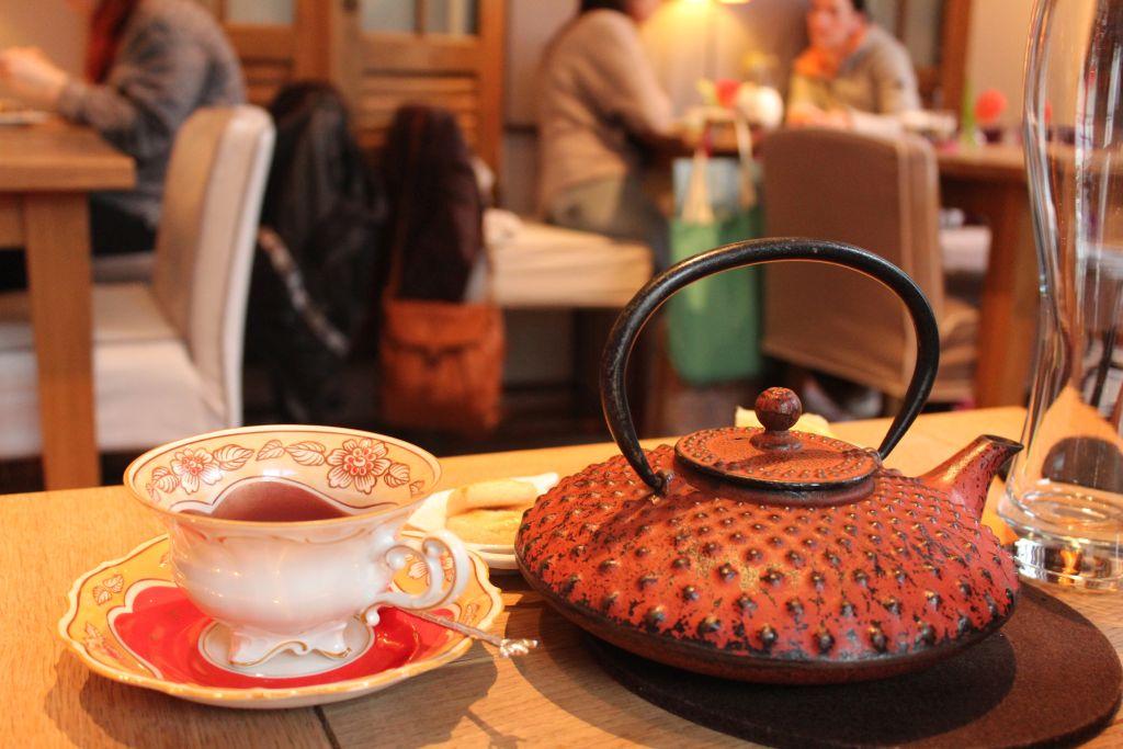 Teapot at First Flush Tea Room