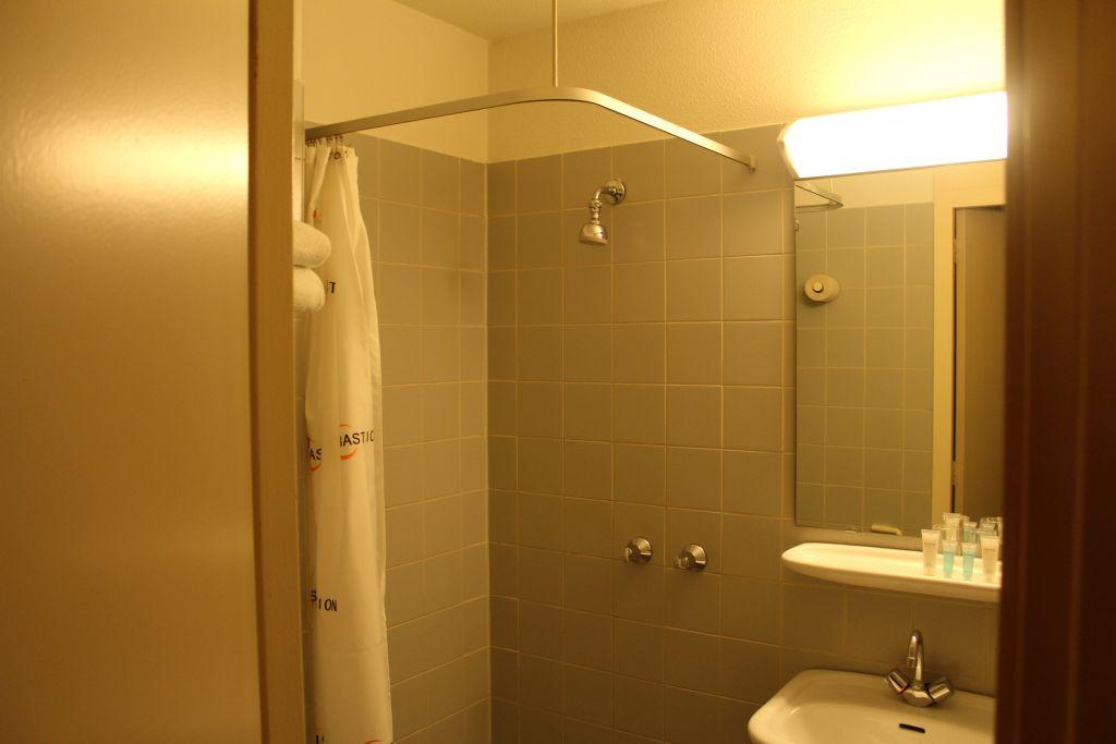Shower room at Bastion hotel