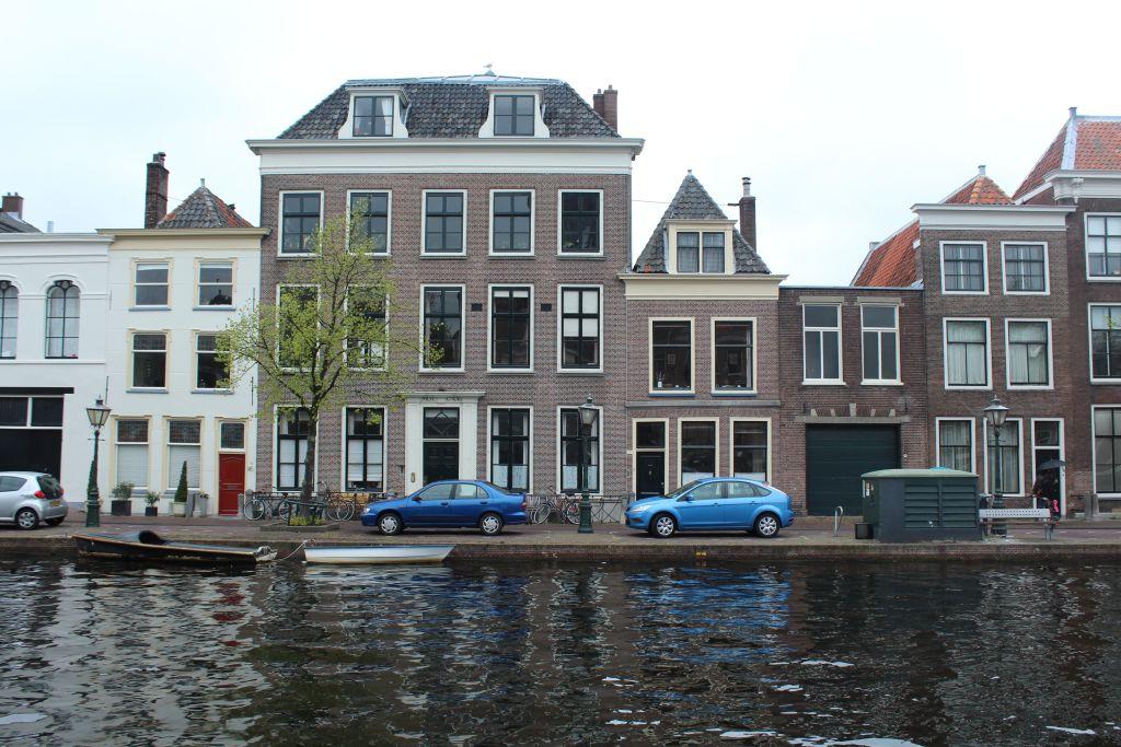 Channel in Leiden, Netherlands
