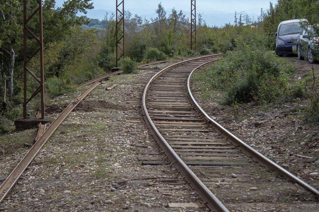 Rail tracks near Motsameta monastery