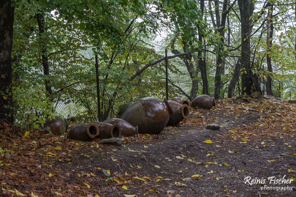 Clay pots for storing wine