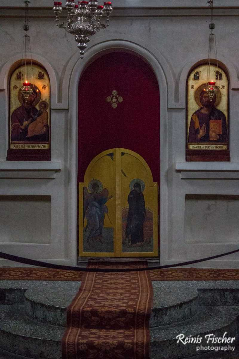 Altar inside Akhali Shuamta monastery