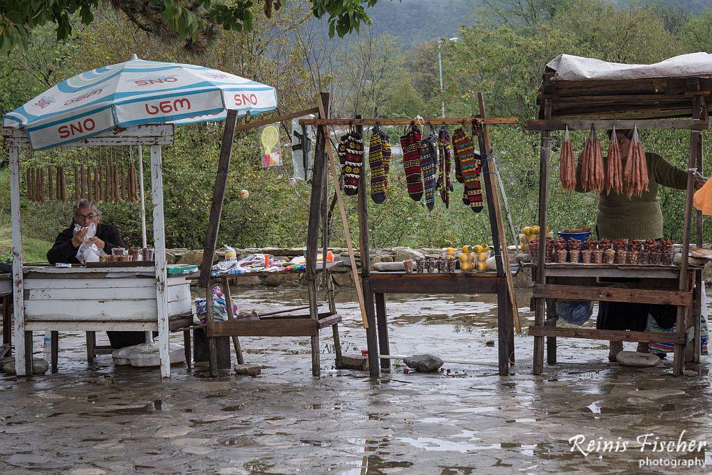 Local merchandise near Greami monastery coplex