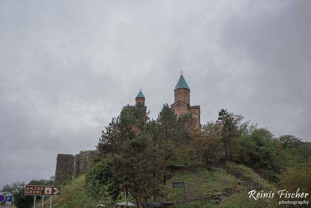 Gremi monastery complex from distance
