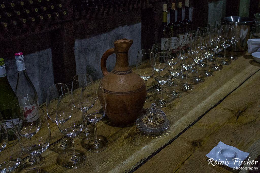Wine tasting at Winery Khareba near Kvareli