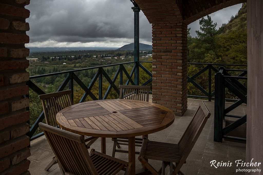 There is a restaurant at winery Khareba offering some spectacular views