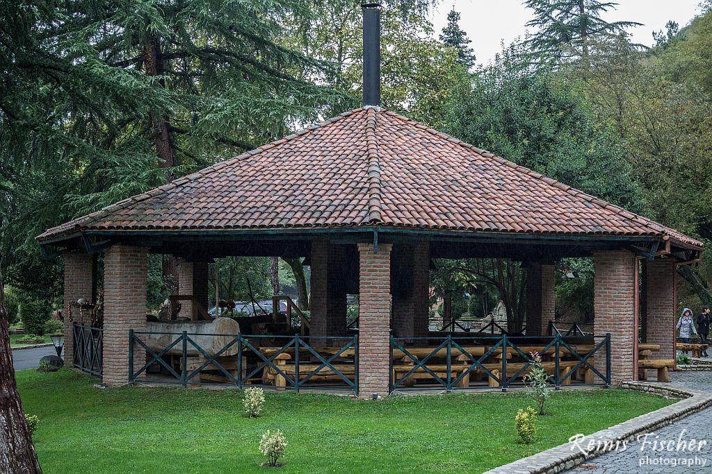 At winery Khareba complex near Kvareli