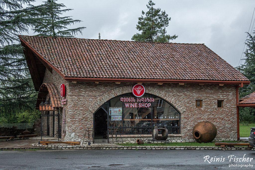 Wine shop at winery Khareba