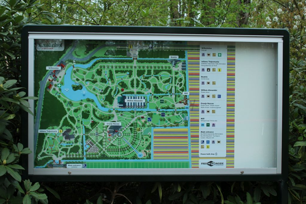 Keukenhof's garden plan