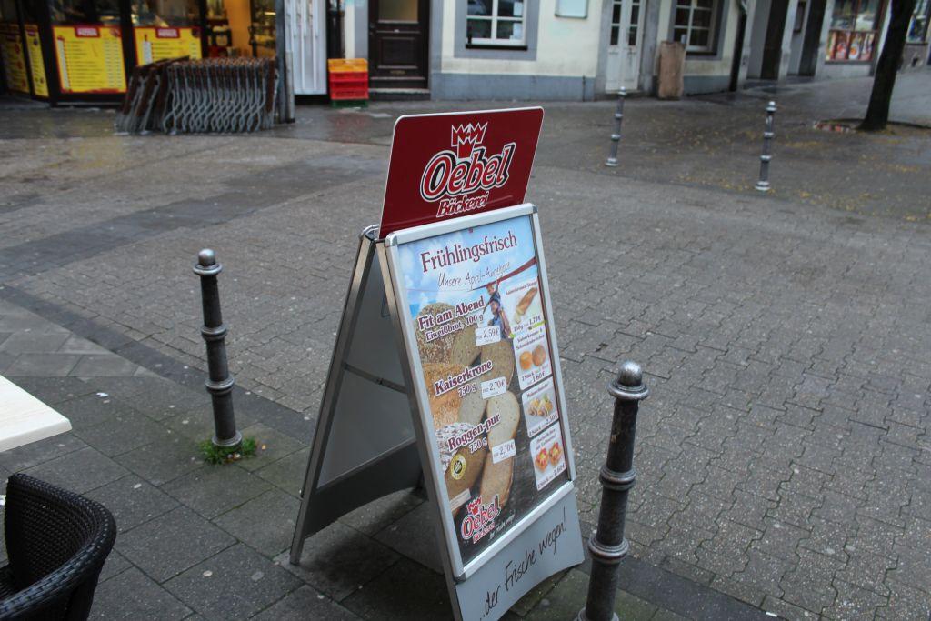 Signboard at Oebel Backerei