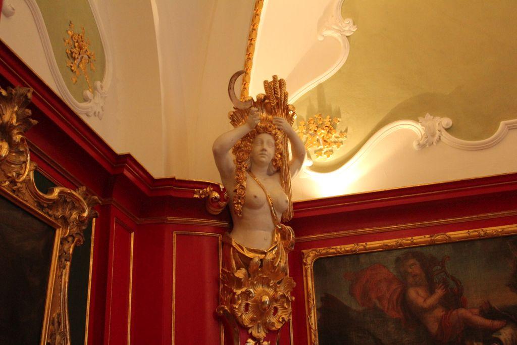 Naked model inside Aachen Town
