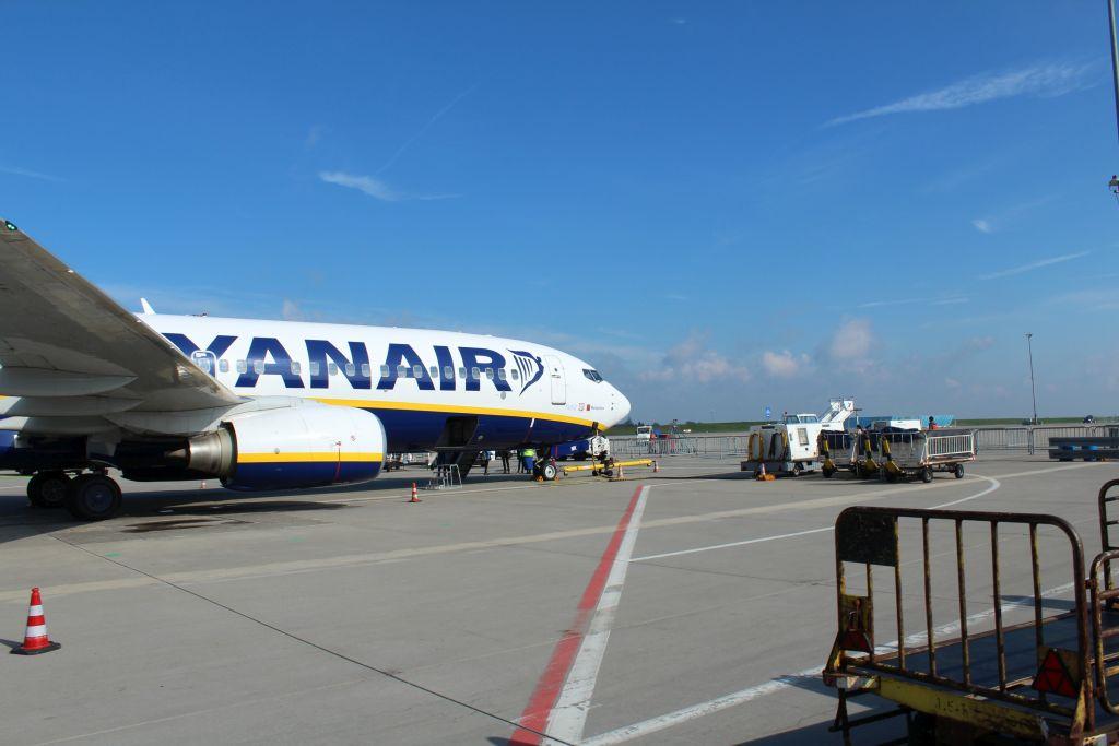 Ryanair air plane at Frankfurt Hahn airport
