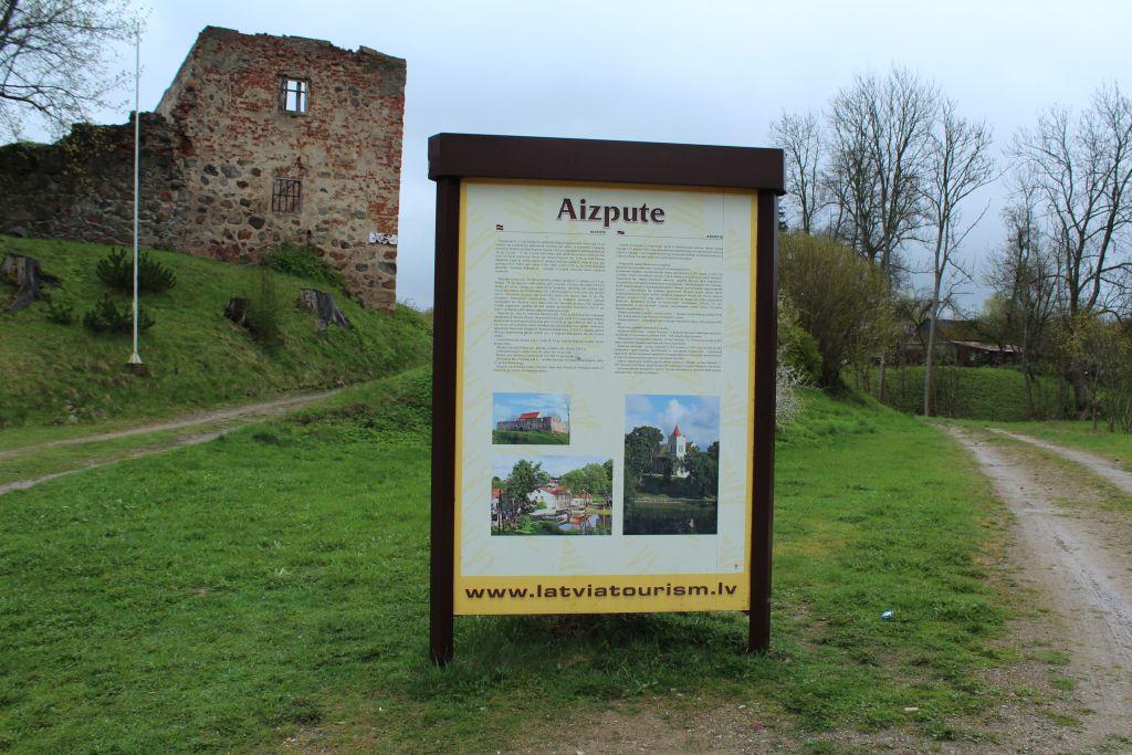 Tourism info near Aizpute Castle