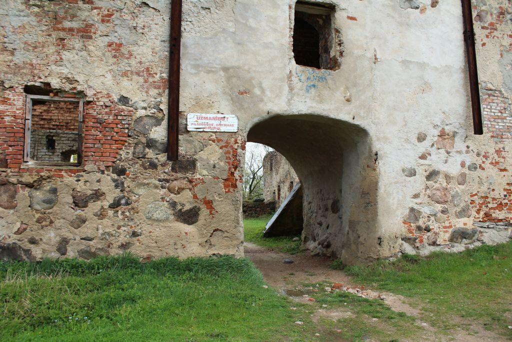 Entrance at Aizpute Livonian Order Castle