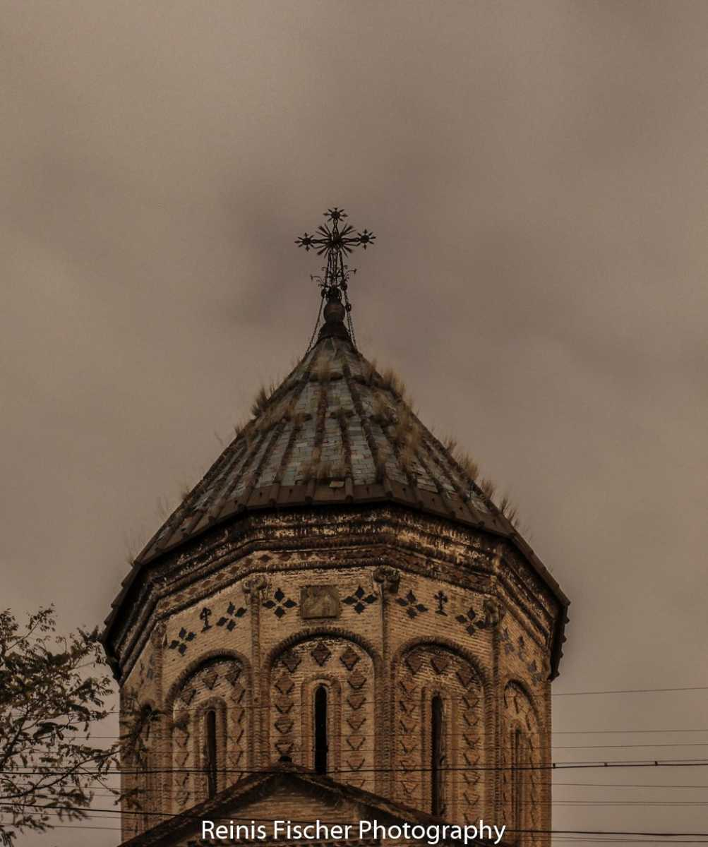 Surb Nshan church tower shot from nearby street