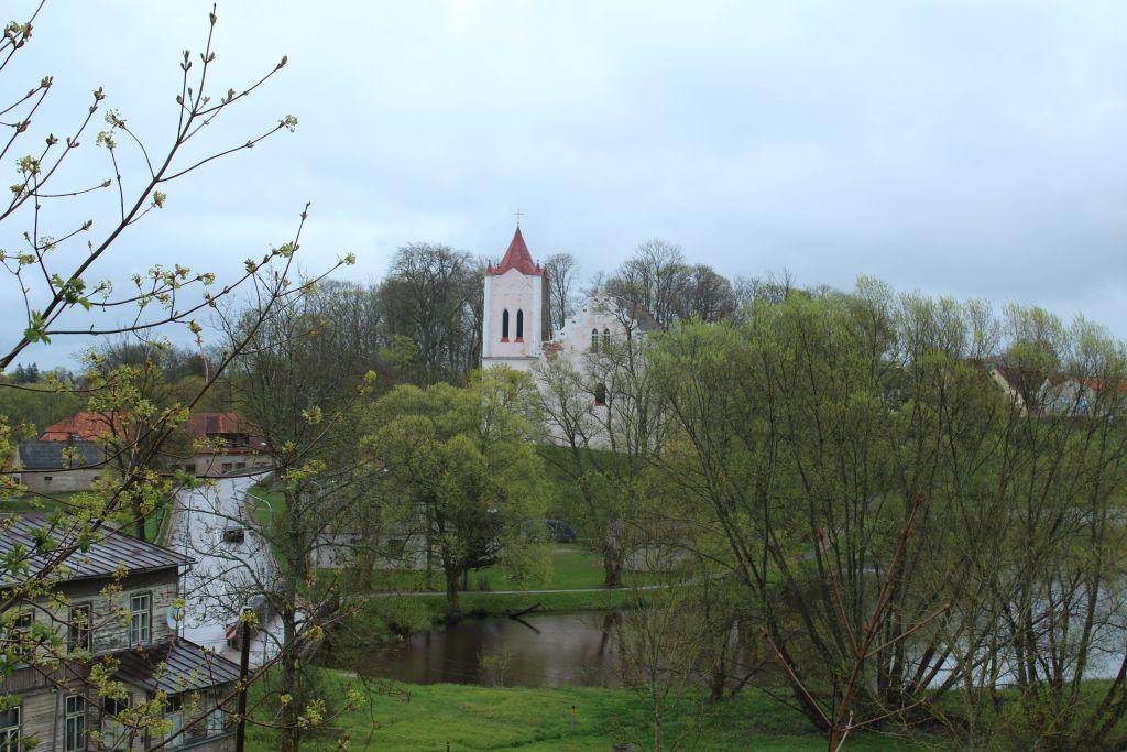 View to Aizpute St John's Church