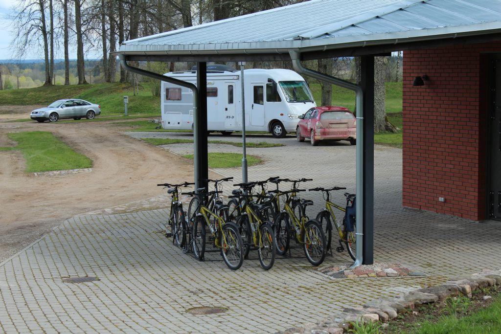 Bicycle parking at Berghof