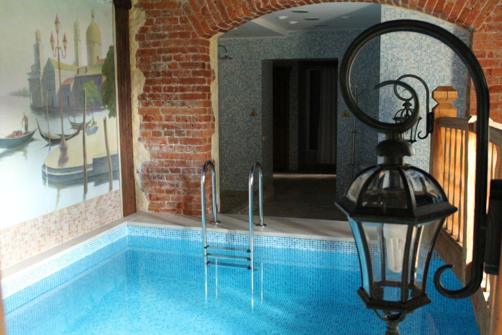 Sauna and pool inside Hotel Berghof