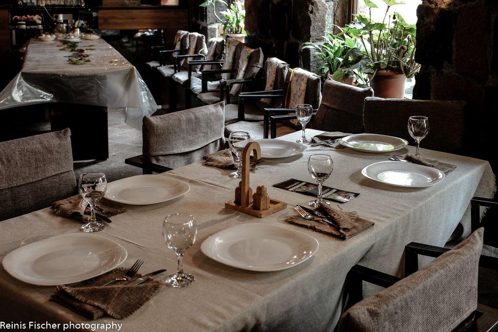 Interior at Sareckela restaurant in Tbilisi
