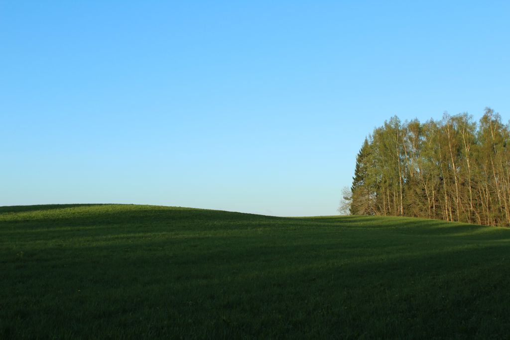 A Typical panorama of Latvian countryside