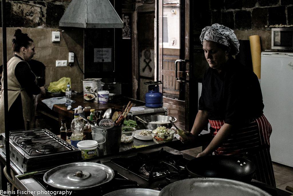 Kitchen at restaurant Sareckela