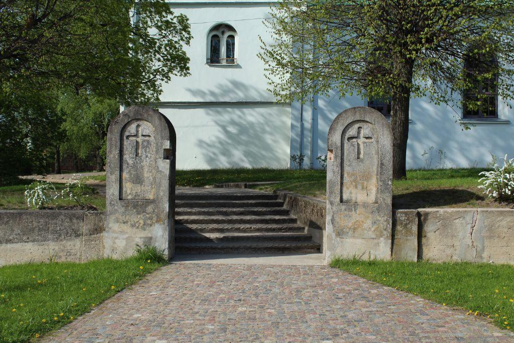 Entrance at this church