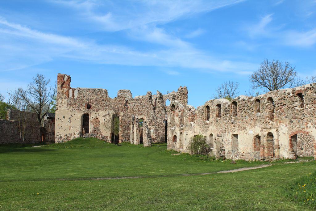 Inside territory at Dobele castle