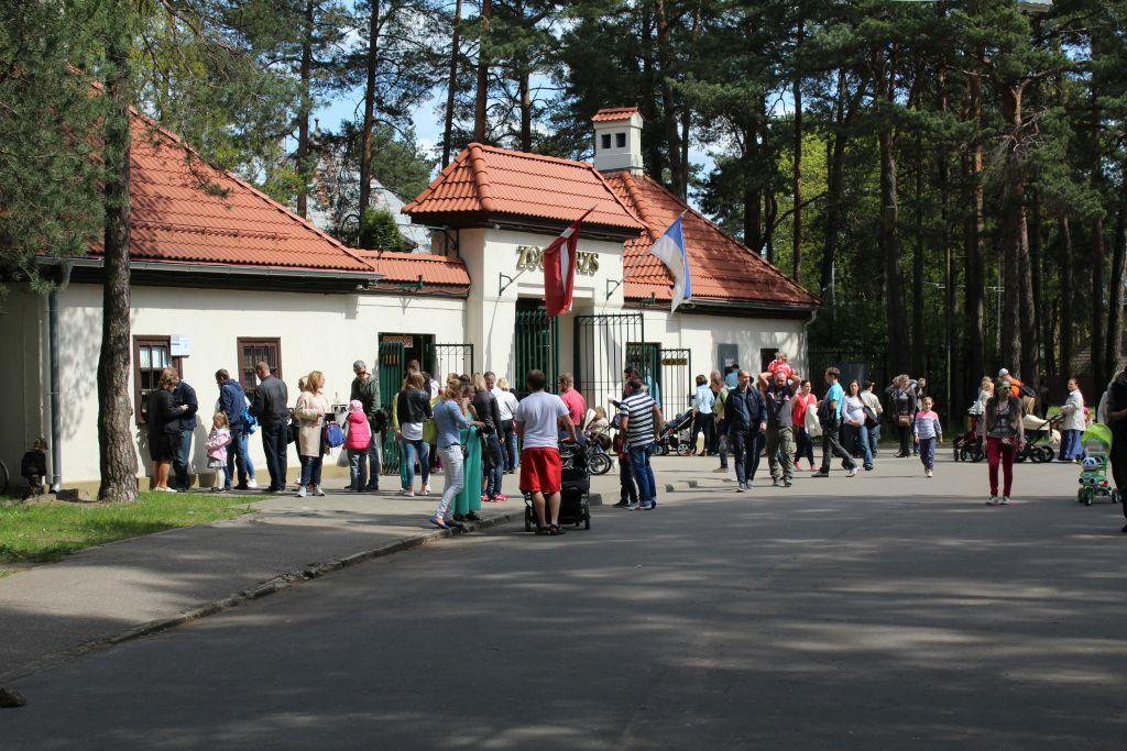 Entrance gates at Riga zoo