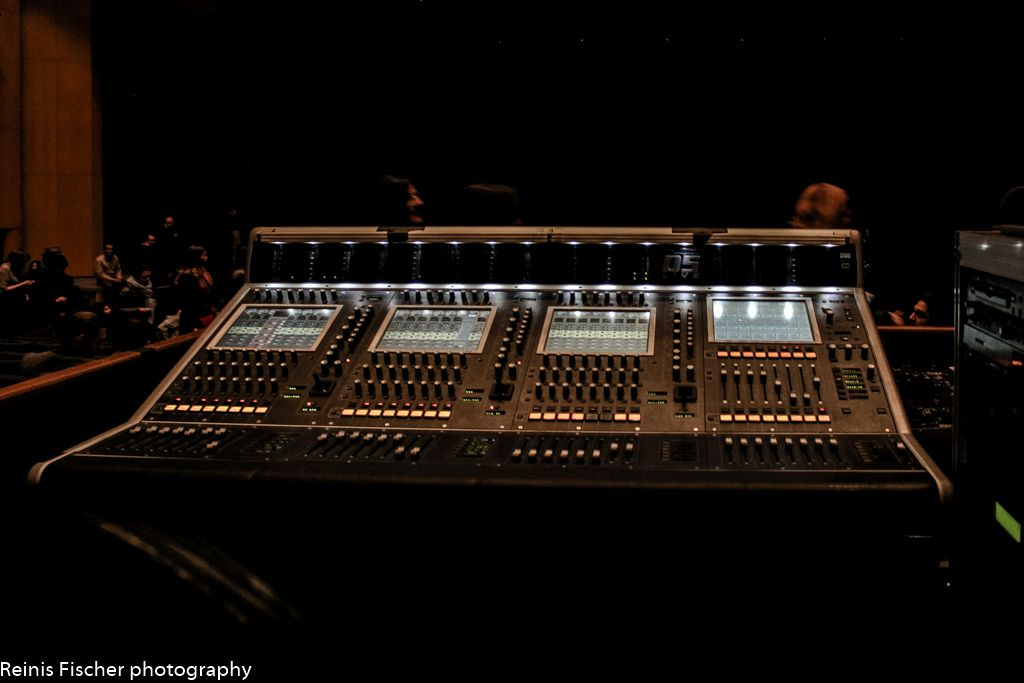 Tuner control in Tbilisi Concert Hall