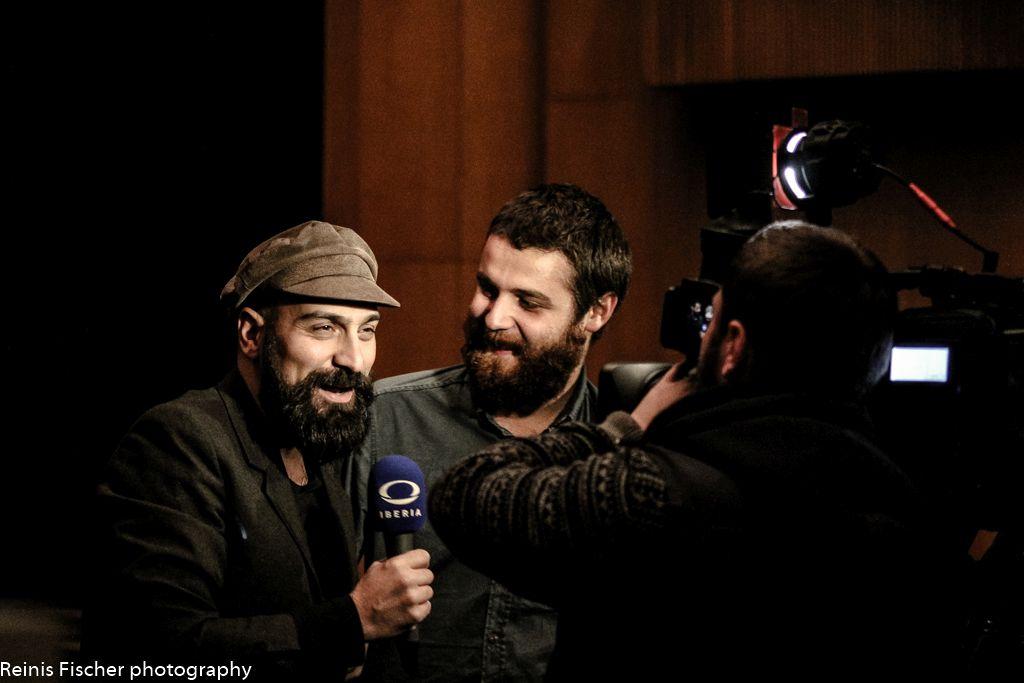 Local Georgian Tv Iberia taking interviews before show has started