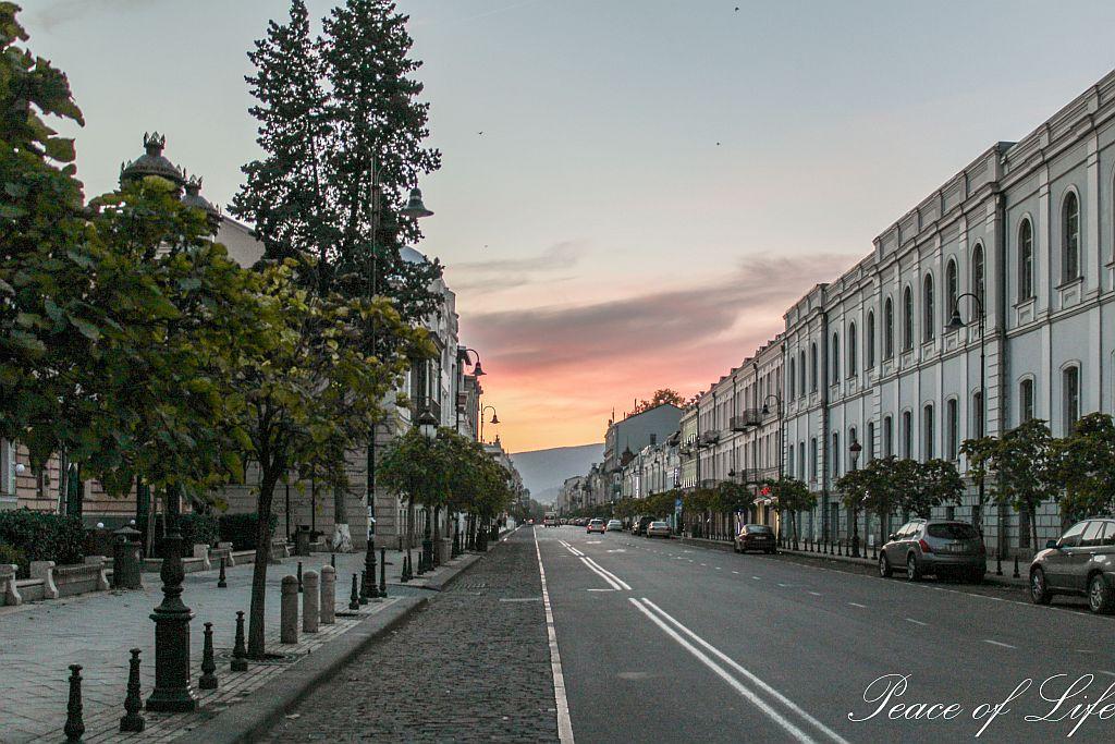 David Agmashenebeli street in Tbilisi