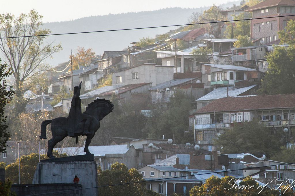 Vahtang Gorgasali statue and Tbilisi Old town