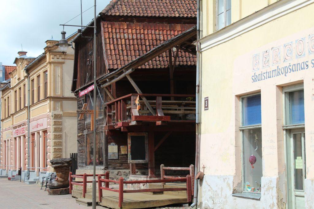 Stender's Bar&Club is located on charming street in Kuldīga