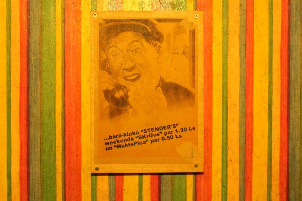 Poster at Stender's Restroom