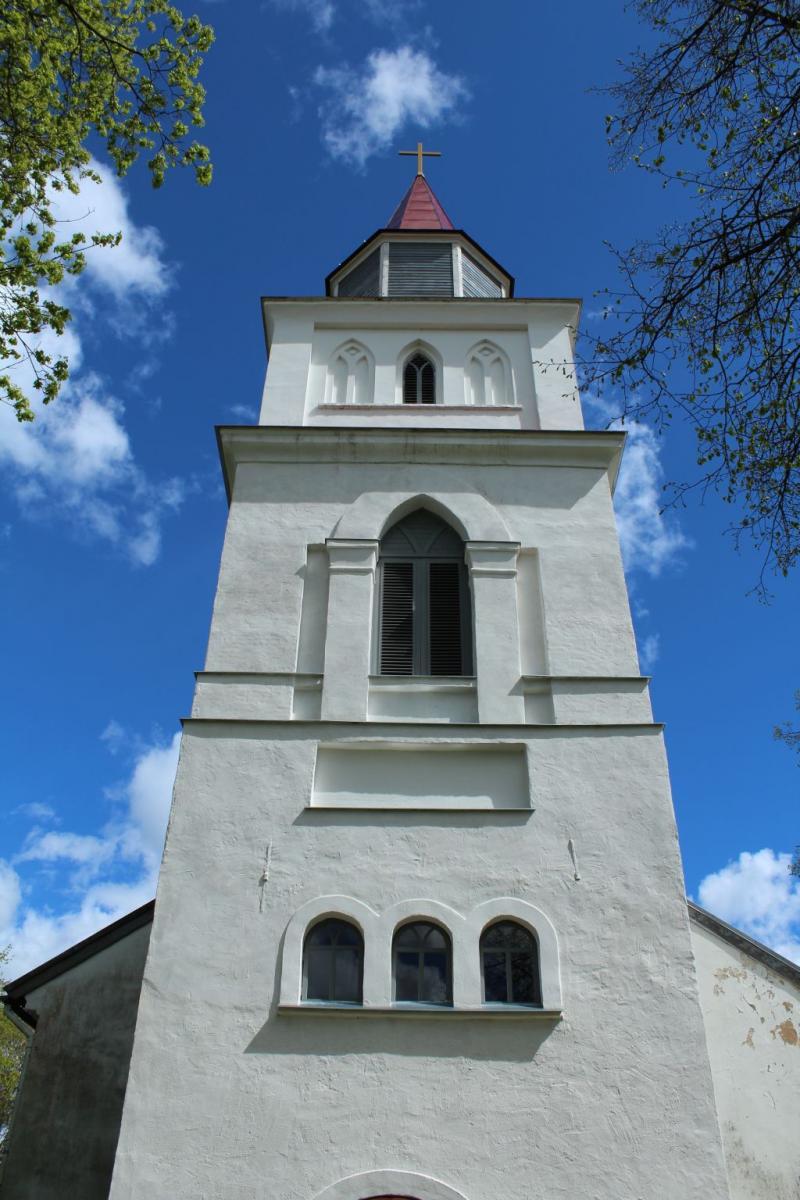 Bell tower of Skrunda Church